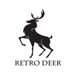 deer logo retro template vector image