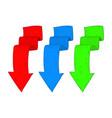 down arrows hand drawn sketch colored set vector image vector image