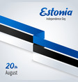 estonian independence day national flags stripes vector image vector image