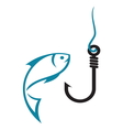 fishing hook2 vector image vector image