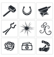 Forge icon collection vector image