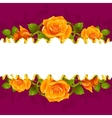 frame whit yellow roses vector image vector image