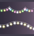 garland made shining big small glittering stars vector image vector image