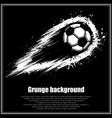 grunge black soccer background vector image vector image