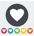 Heart flat icon vector image vector image