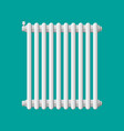 heating radiator retro heating system vector image