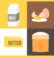 ingredients icon for bakery products vector image vector image