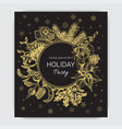 invitation for a christmas holiday vector image