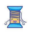 kawaii cute funny thread object vector image vector image