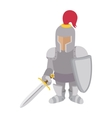 Knight cartoon character vector image vector image