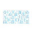 laboratory equipment outline banner vector image vector image