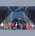 large group of people or music fans dancing in vector image