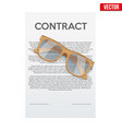 legal contract signing vector image