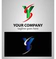 Letter Y logo symbol design template elements vector image