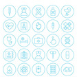 Line Circle Health Care Medical Icons Set vector image vector image