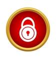 Lock icon simple style vector image
