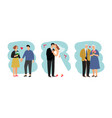 loving couples different ages vector image
