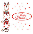 merry christmas card with funny poodles vector image vector image