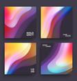 modern covers template design fluid colors set vector image