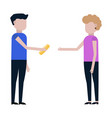 money in debt sharing profits icon vector image vector image