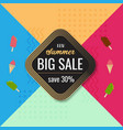 new summer big sale colorful background template vector image vector image