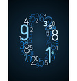 Number 0 font from numbers vector image vector image