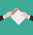 open envelope with job offer message flat design vector image