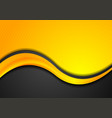 orange and black abstract background with glossy vector image vector image