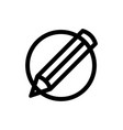 pencil in circle icon logo template design in vector image vector image