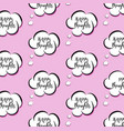 pink though clouds woman bubble vector image vector image