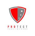 protection logo shield logo security logo vector image vector image