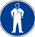 Protective clothing must be worn safety sign