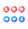 realistic detailed 3d color different social sign vector image