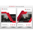 red triangle annual report leaflet brochure flyer vector image vector image
