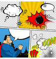Retro Comic Book Speech Bubbles vector image vector image