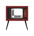 retro tv in the wooden case on vector image