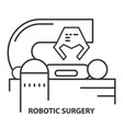 robotic surgery icon vector image vector image