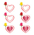 rose in heart vector image vector image