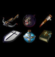 set collection with realistic game icons vector image