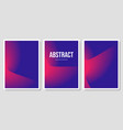 set three banners with colorful abstract vector image