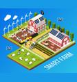 smart farm concept vector image vector image