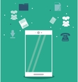 Smartphone and social media icon set vector image vector image