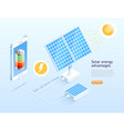 solar cell phone isometric vector image