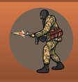 soldier with gun warrior special forces vector image