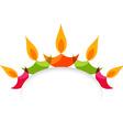 Stylish colorful diwali diya isolated on white vector image vector image