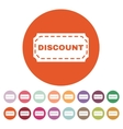 The discount icon Coupon and gift offer symbol vector image vector image