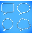 Thin Line Speech Bubbles vector image