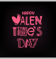 valentines day party greeting card logo vector image vector image