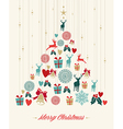 Vintage Christmas pine tree background vector image vector image