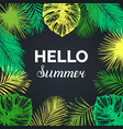 vintage hello summer exotic vector image